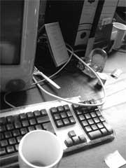 Photograph of computer keyboard