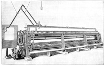 Schiffli machine with pantograph