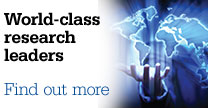 World-class research leaders - find out more
